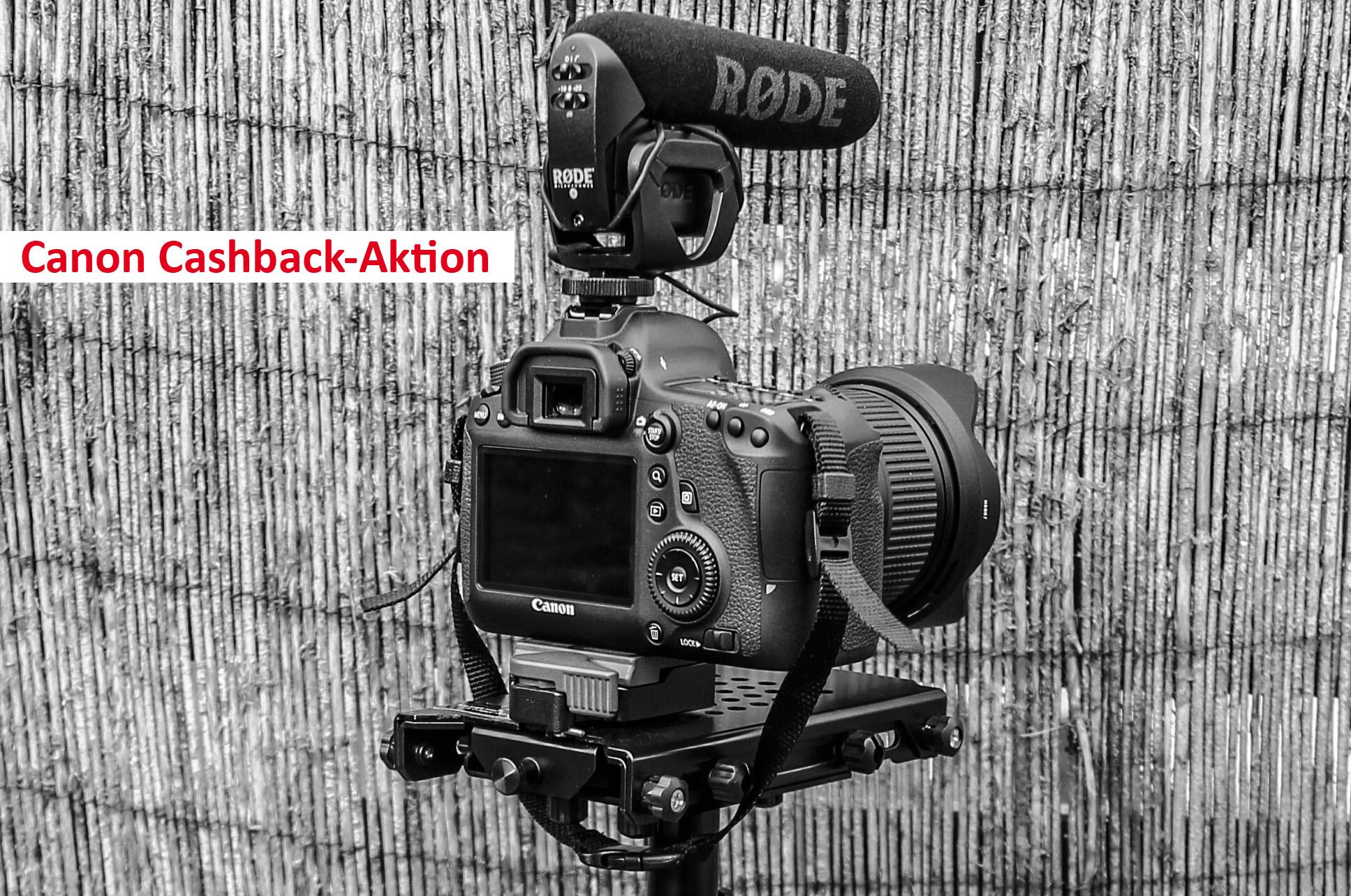 Cashback von Canon für Kameras, Objektive und Blitze