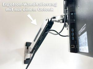 Monitor-Wandhalterung für elektrisch höhenverstellbare Schreibtische
